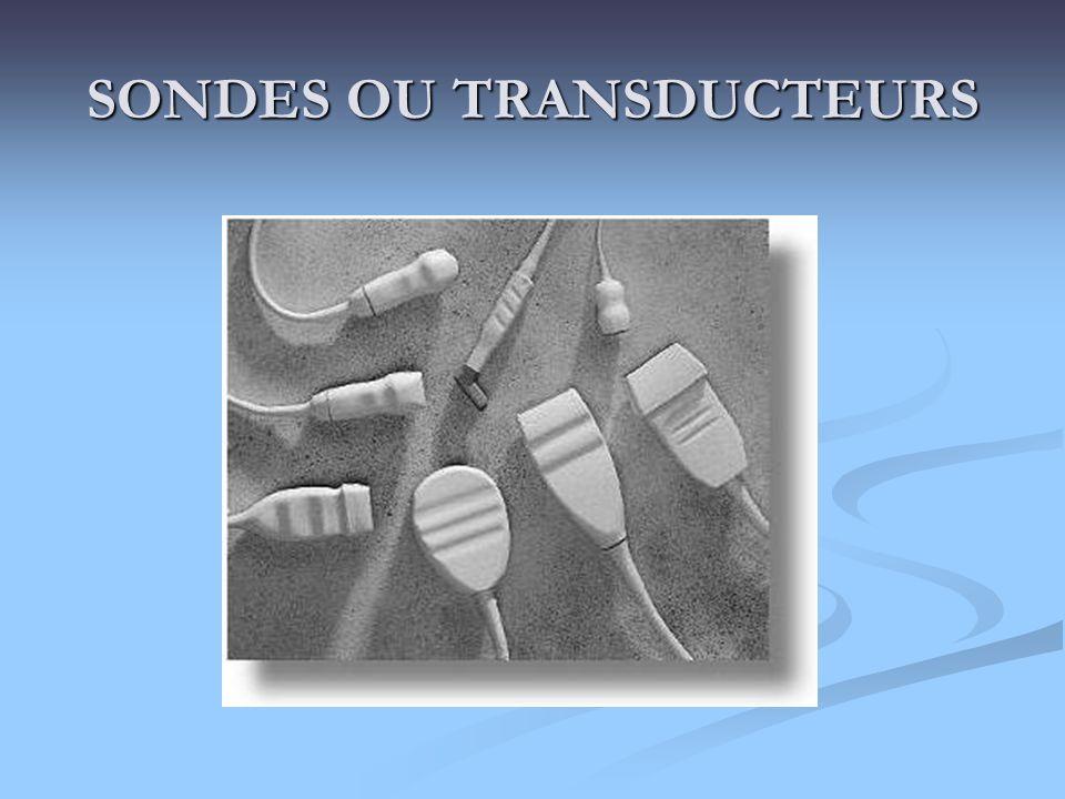 SONDES OU TRANSDUCTEURS