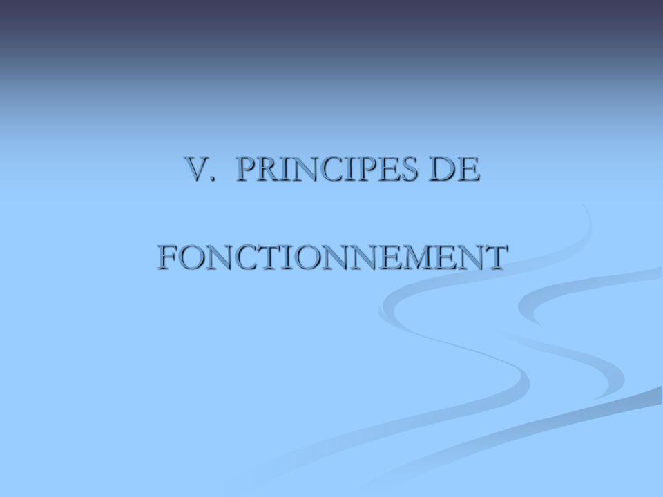 V. PRINCIPES DE FONCTIONNEMENT