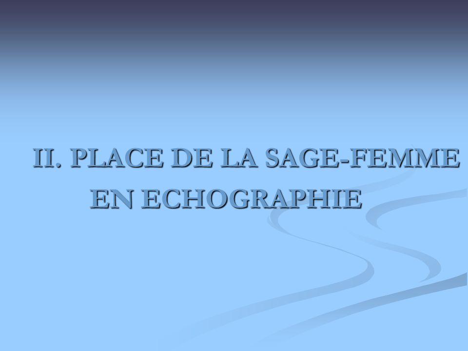 II. PLACE DE LA SAGE-FEMME