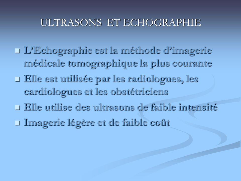 ULTRASONS ET ECHOGRAPHIE