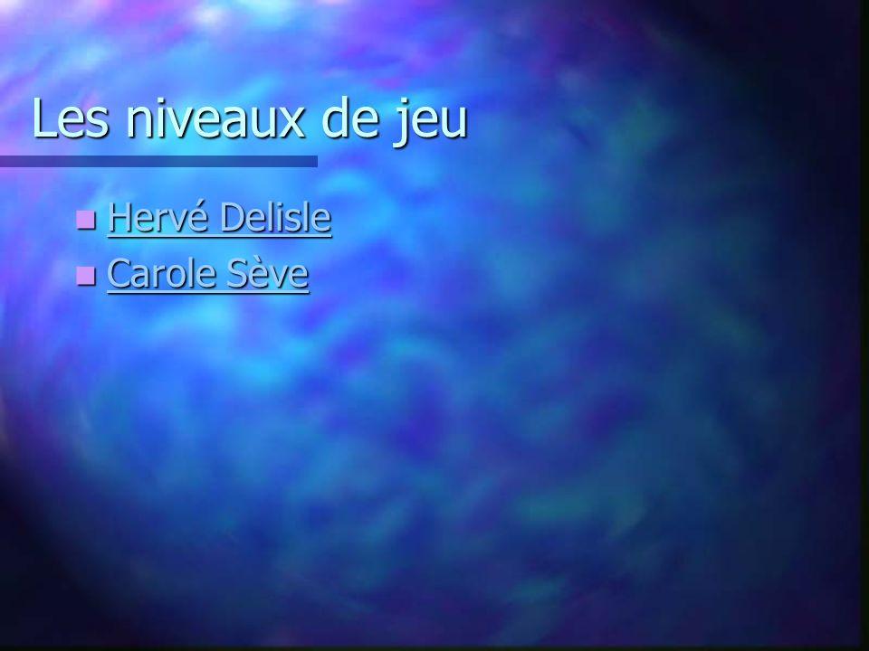 Les niveaux de jeu Hervé Delisle Carole Sève