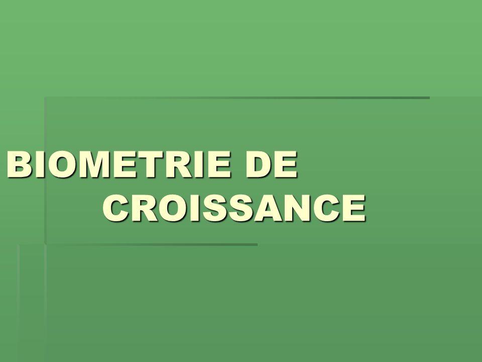 BIOMETRIE DE CROISSANCE