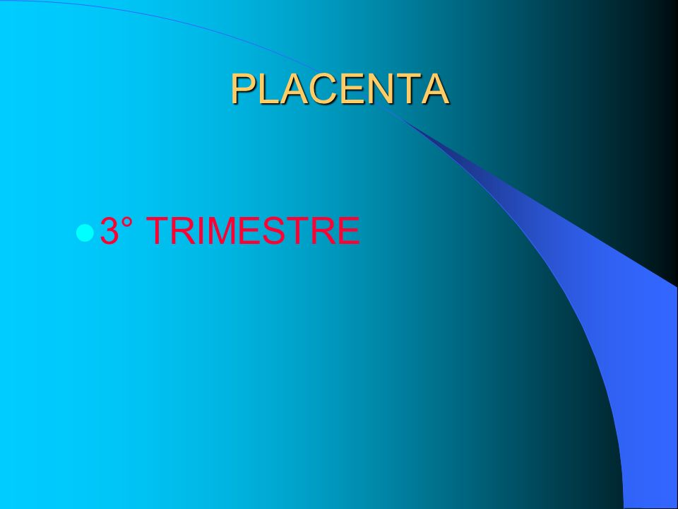 PLACENTA 3° TRIMESTRE