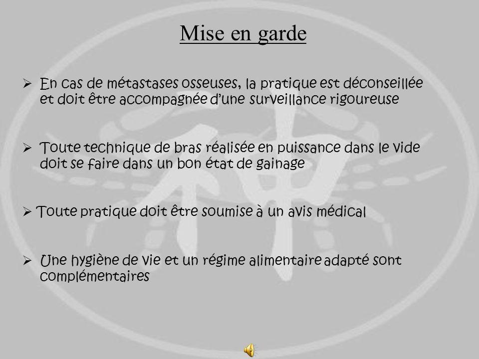 Mise en gardeEn cas de métastases osseuses, la pratique est déconseillée et doit être accompagnée d'une surveillance rigoureuse.