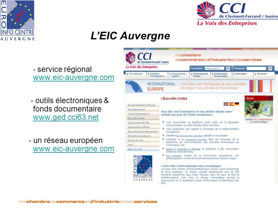 L'EIC Auvergne - service régional www.eic-auvergne.com