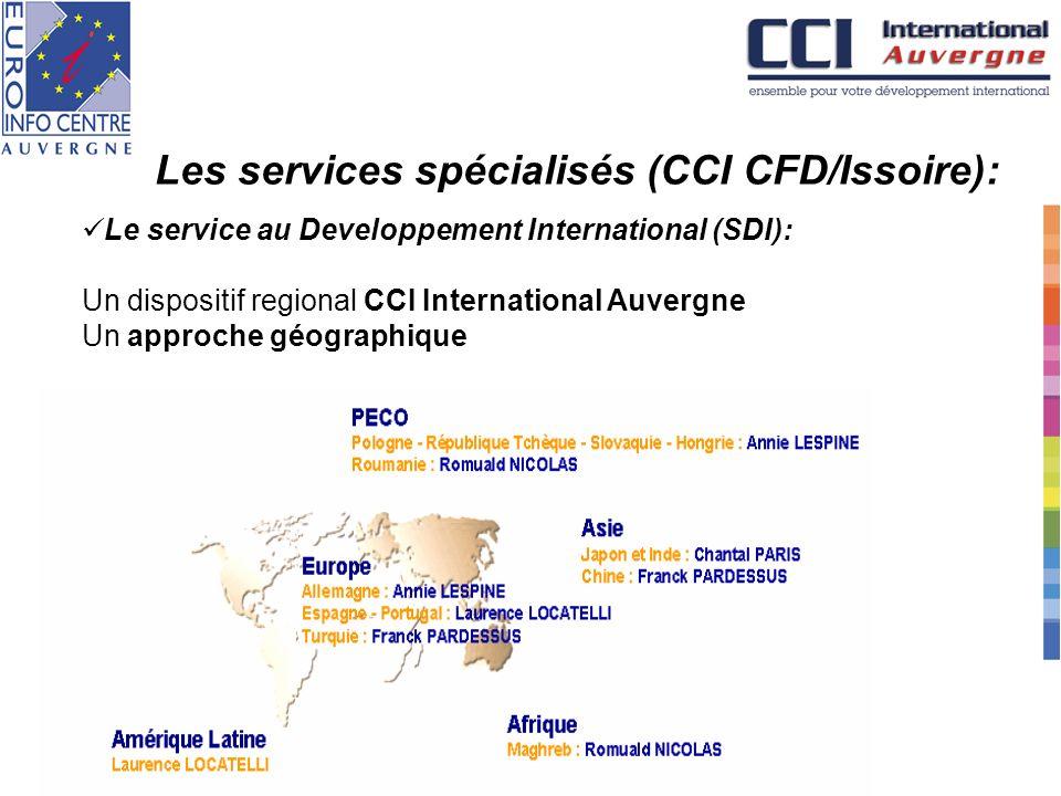 Les services spécialisés (CCI CFD/Issoire):