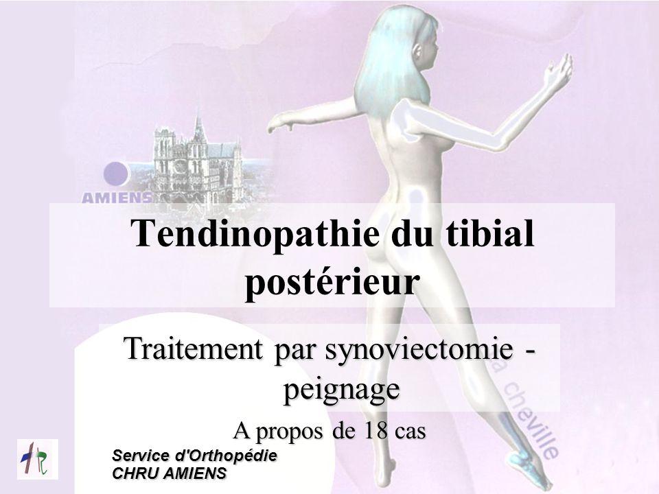Tendinopathie du tibial postérieur