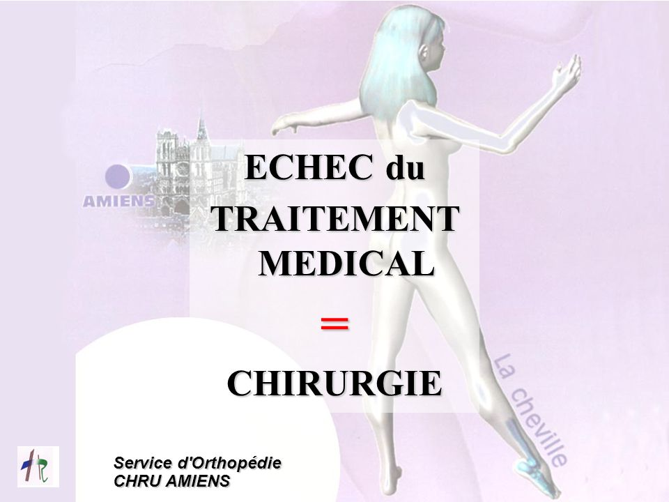 ECHEC du TRAITEMENT MEDICAL = CHIRURGIE