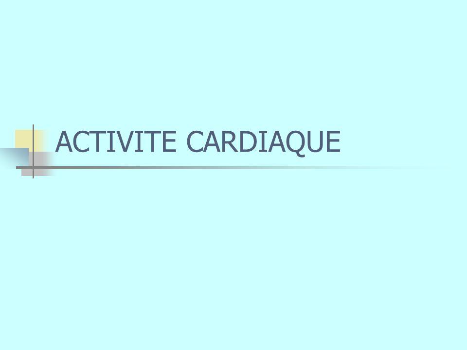 ACTIVITE CARDIAQUE
