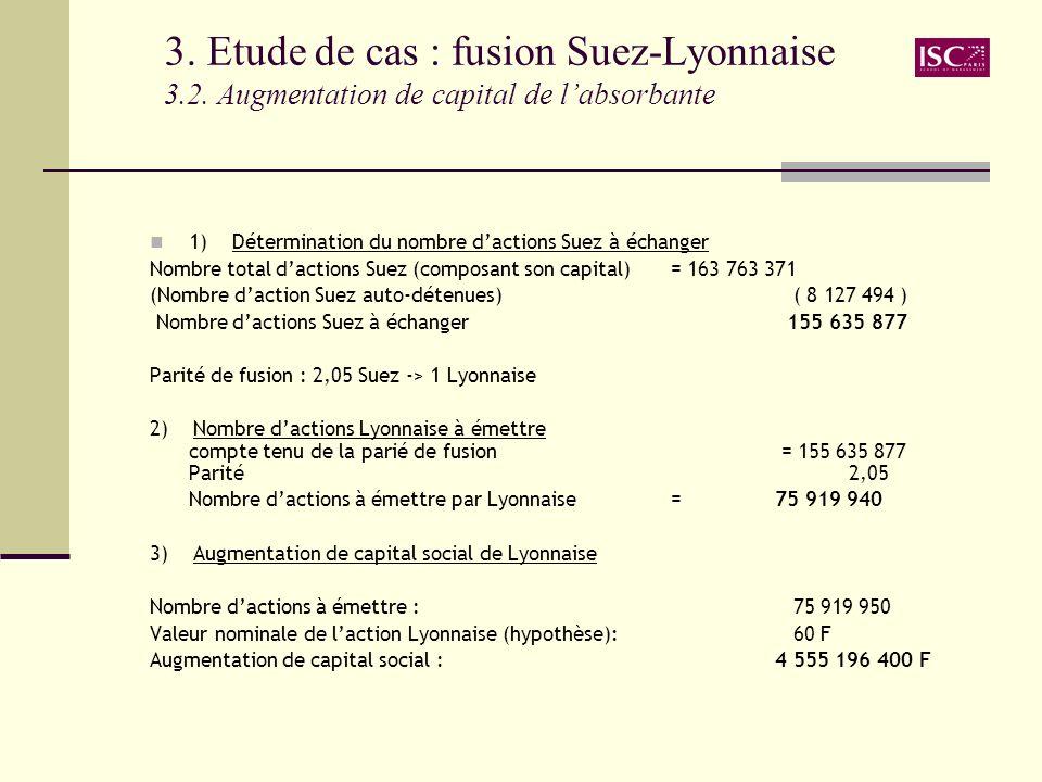 3. Etude de cas : fusion Suez-Lyonnaise 3. 2