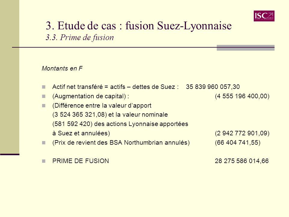 3. Etude de cas : fusion Suez-Lyonnaise 3.3. Prime de fusion