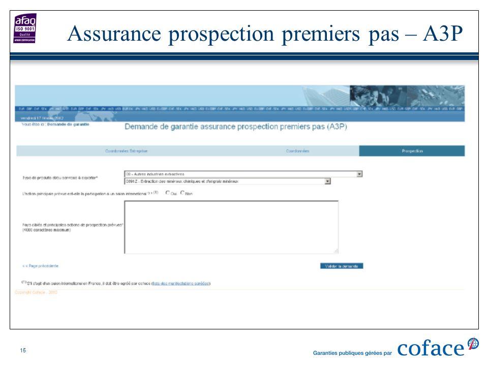 Assurance prospection premiers pas – A3P