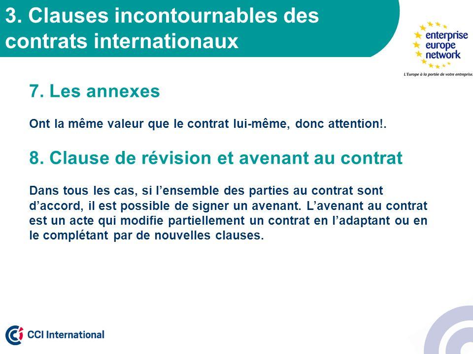 3. Clauses incontournables des contrats internationaux