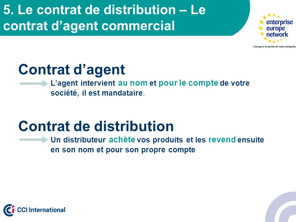 Contrat de distribution