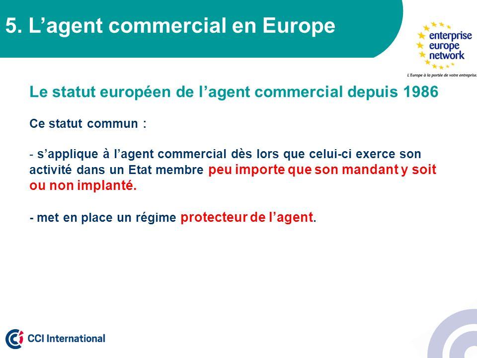 5. L'agent commercial en Europe