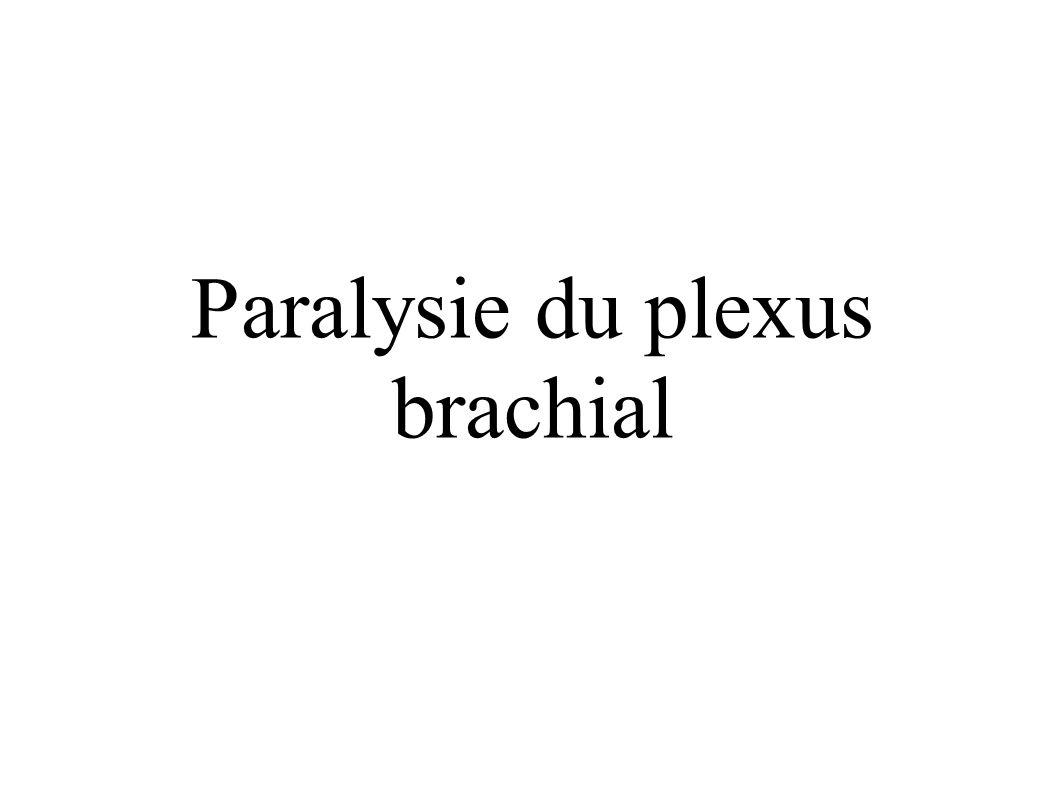 Paralysie du plexus brachial