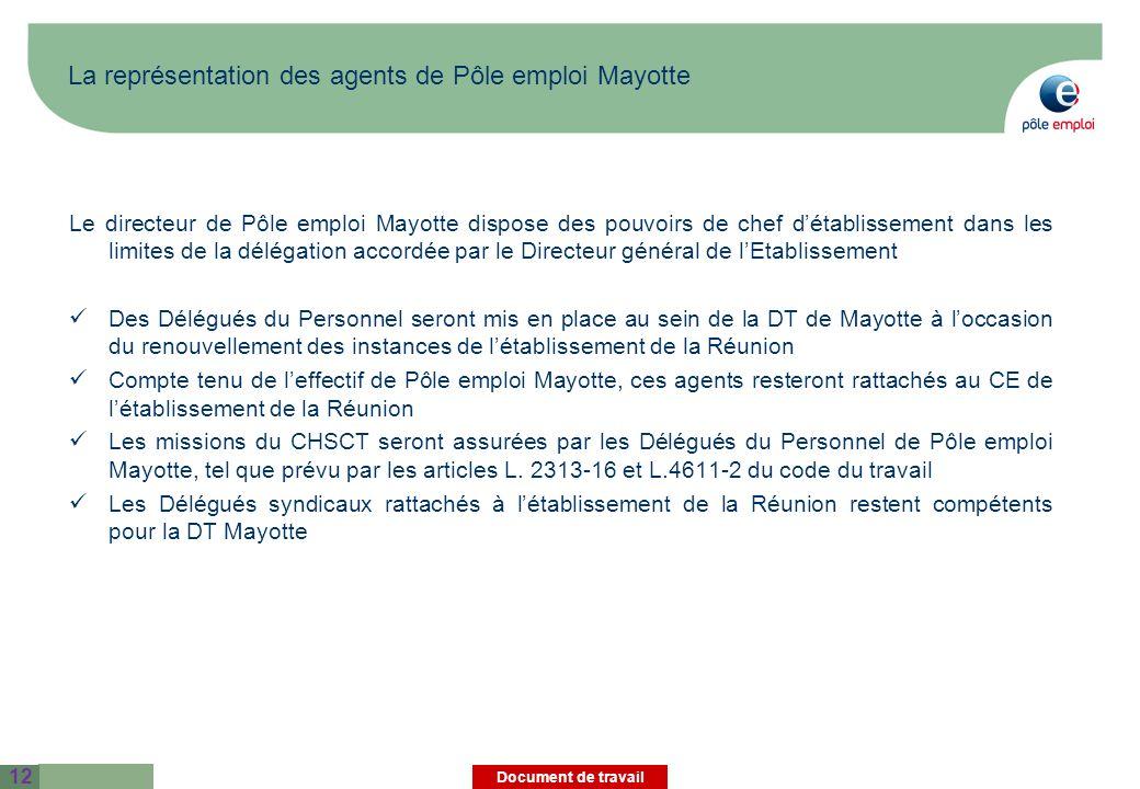 La représentation des agents de Pôle emploi Mayotte