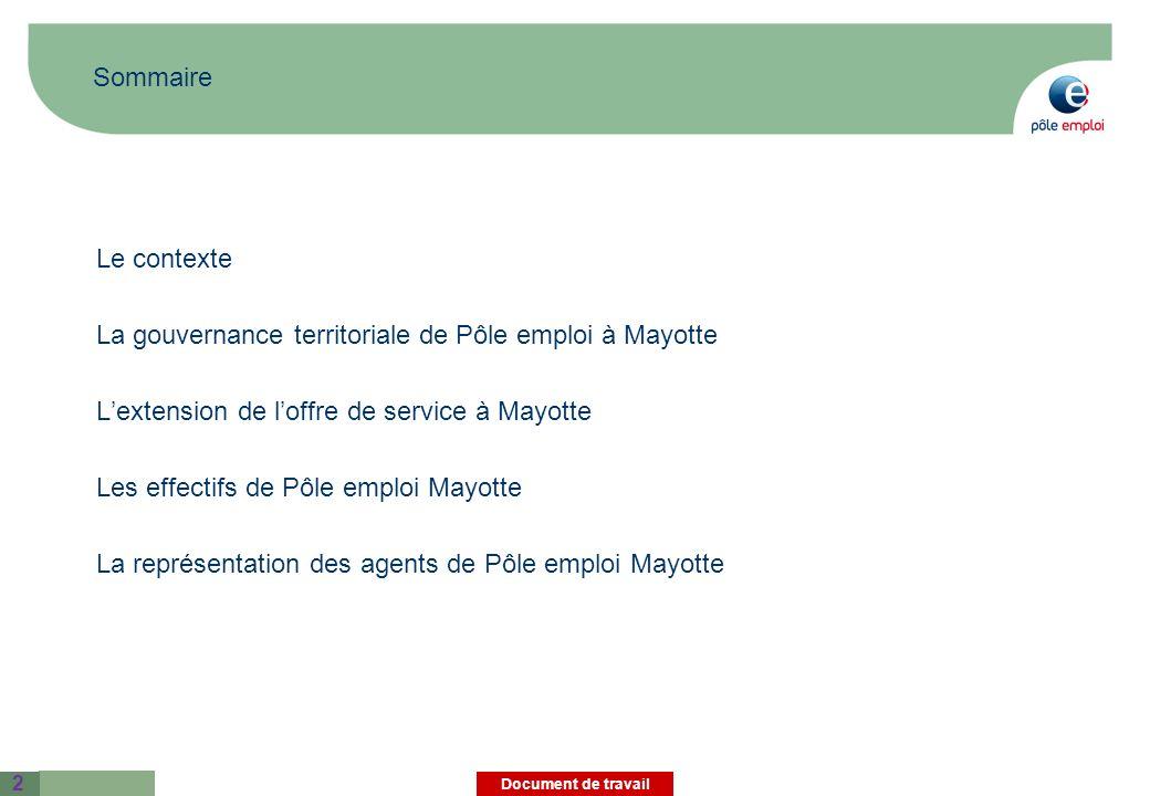 La gouvernance territoriale de Pôle emploi à Mayotte