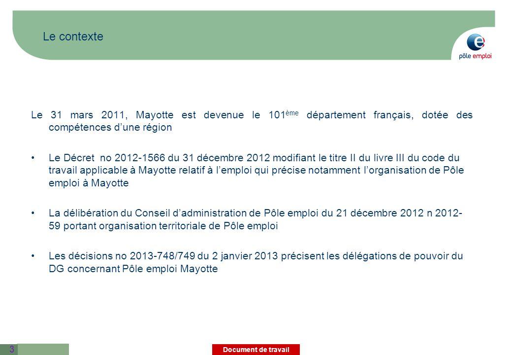 Le contexte Le 31 mars 2011, Mayotte est devenue le 101ème département français, dotée des compétences d'une région.