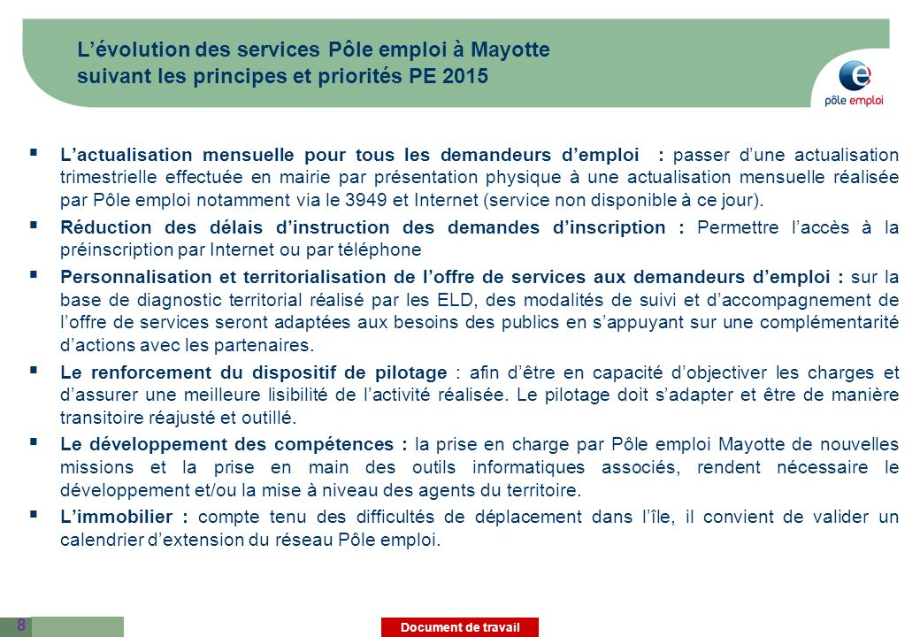 cr u00e9ation de l u2019 u00e9tablissement p u00f4le emploi mayotte