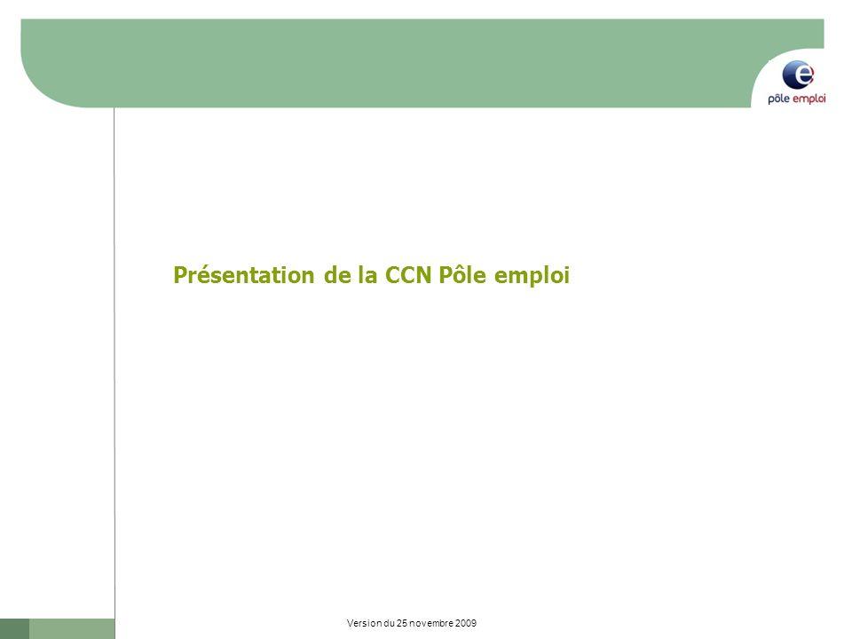 Présentation de la CCN Pôle emploi