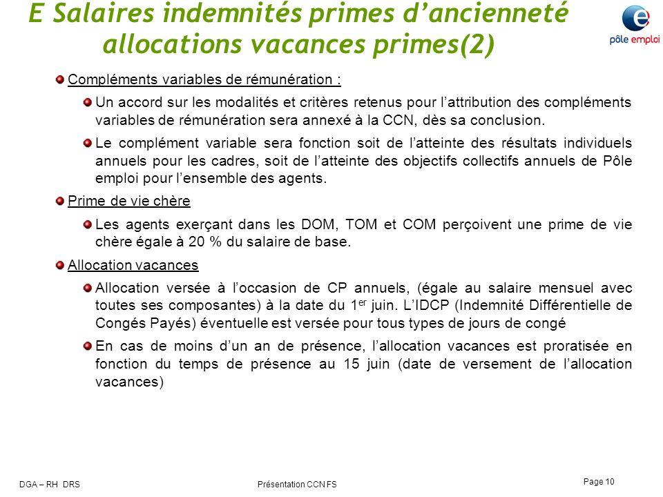 E Salaires indemnités primes d'ancienneté allocations vacances primes(2)
