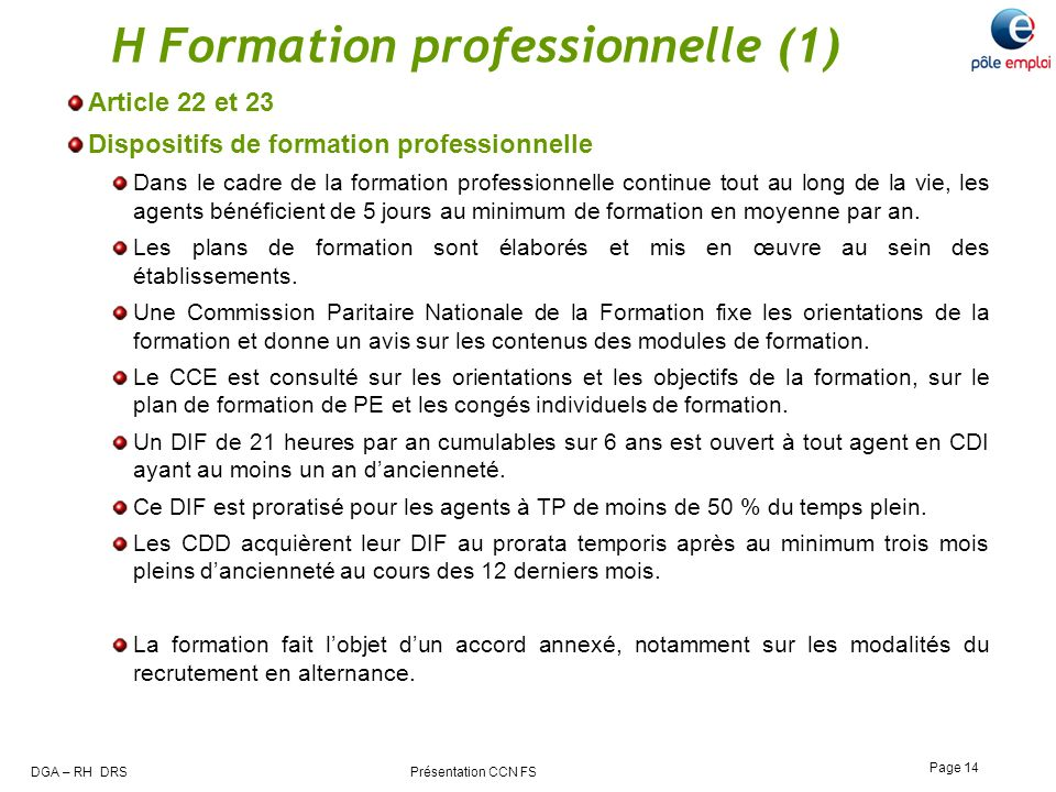 H Formation professionnelle (1)