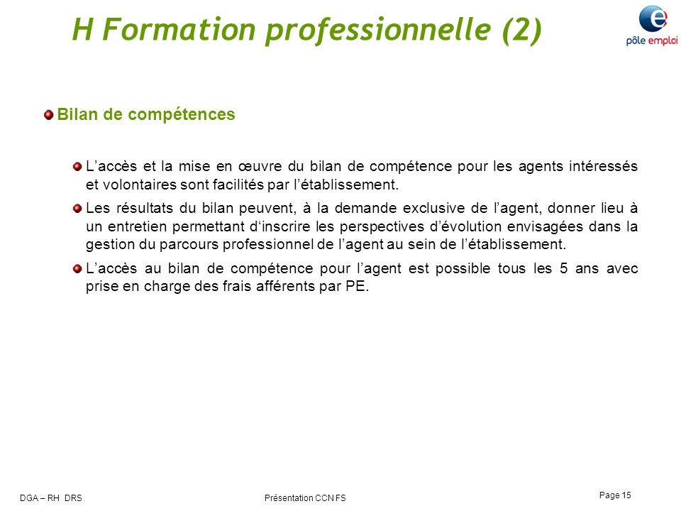 H Formation professionnelle (2)