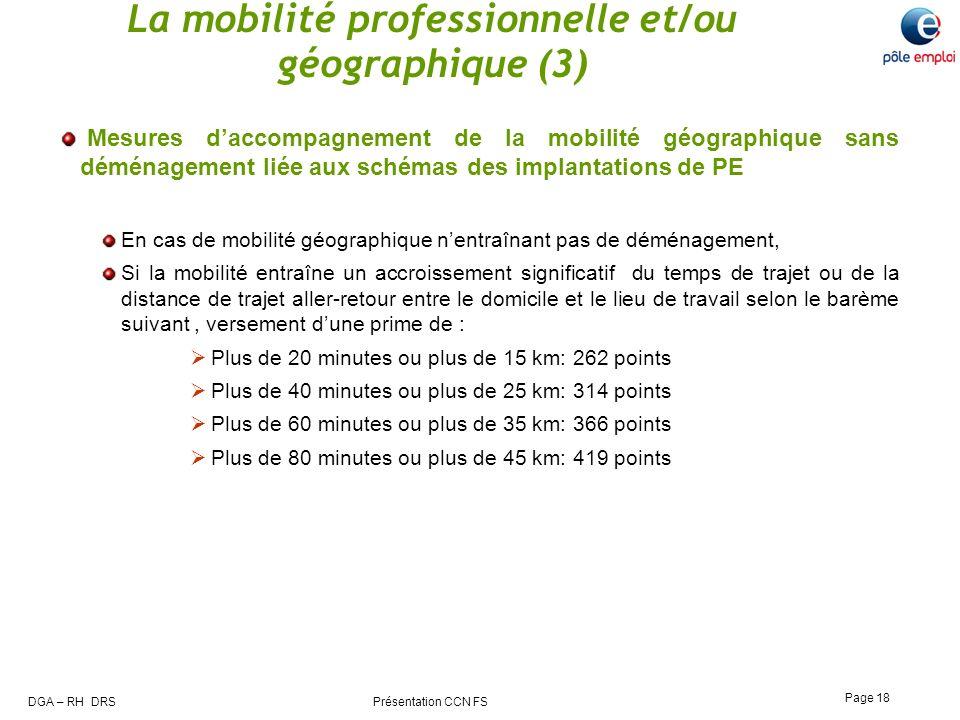 La mobilité professionnelle et/ou géographique (3)