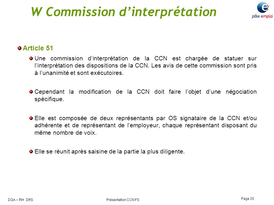 W Commission d'interprétation