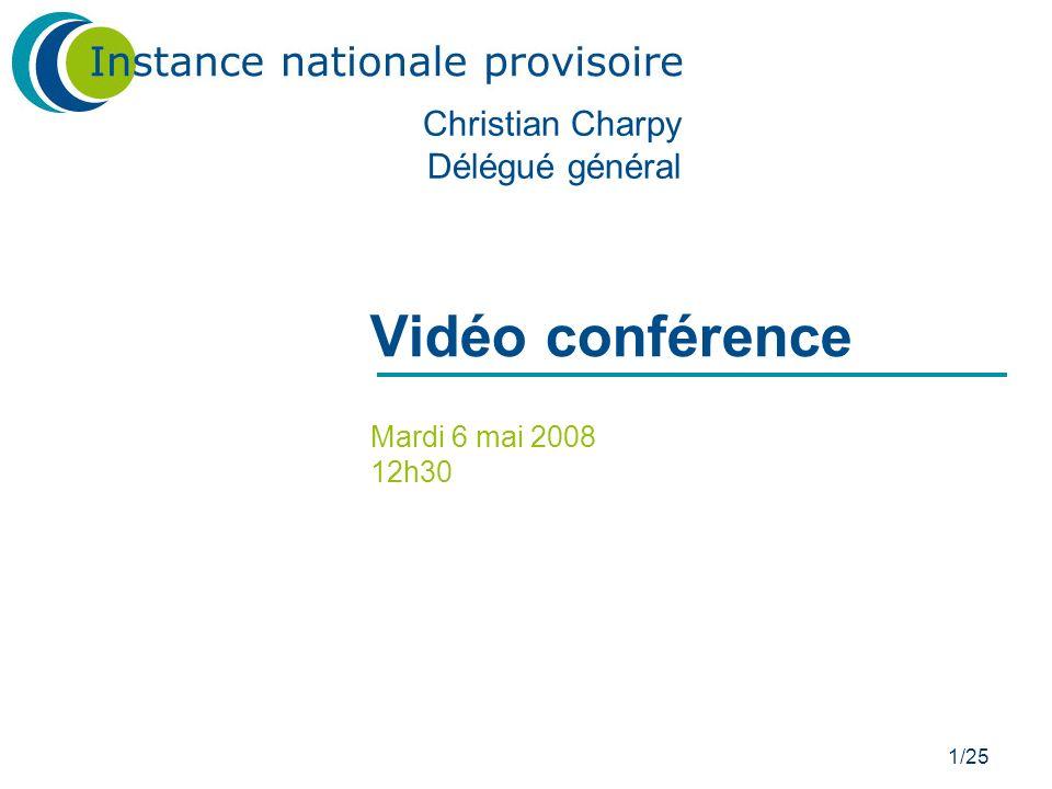 Vidéo conférence Christian Charpy Délégué général