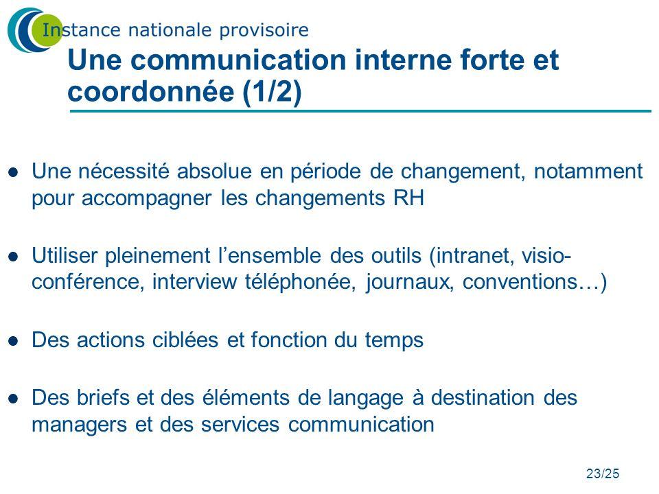 Une communication interne forte et coordonnée (1/2)