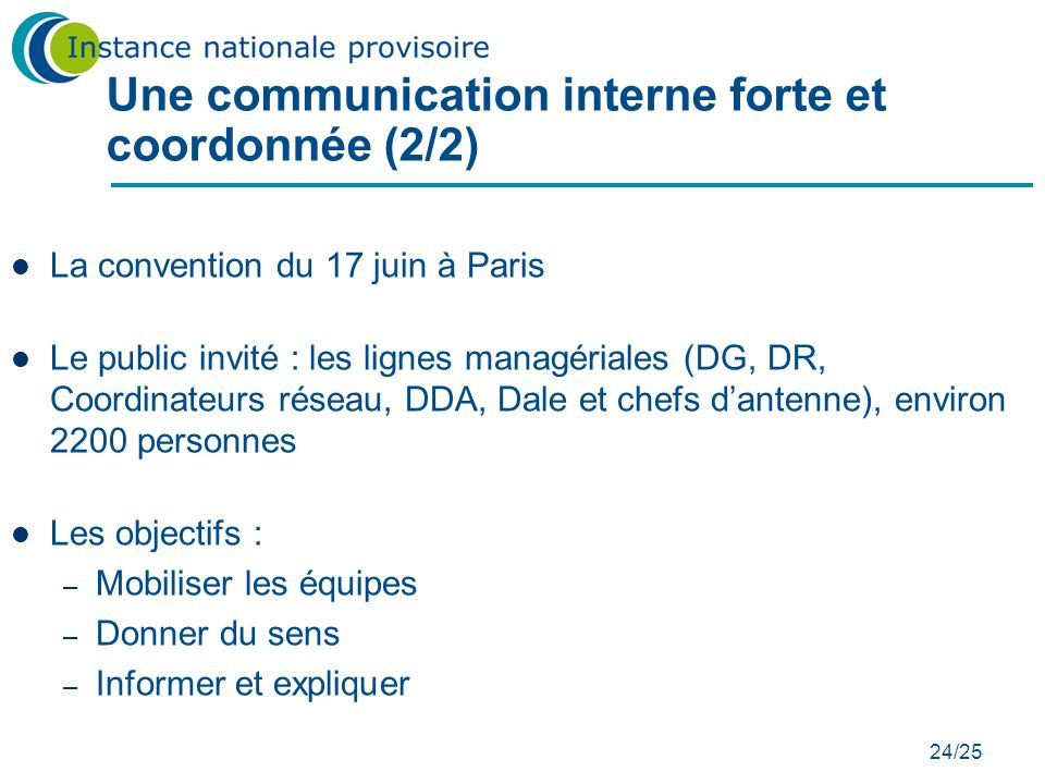 Une communication interne forte et coordonnée (2/2)