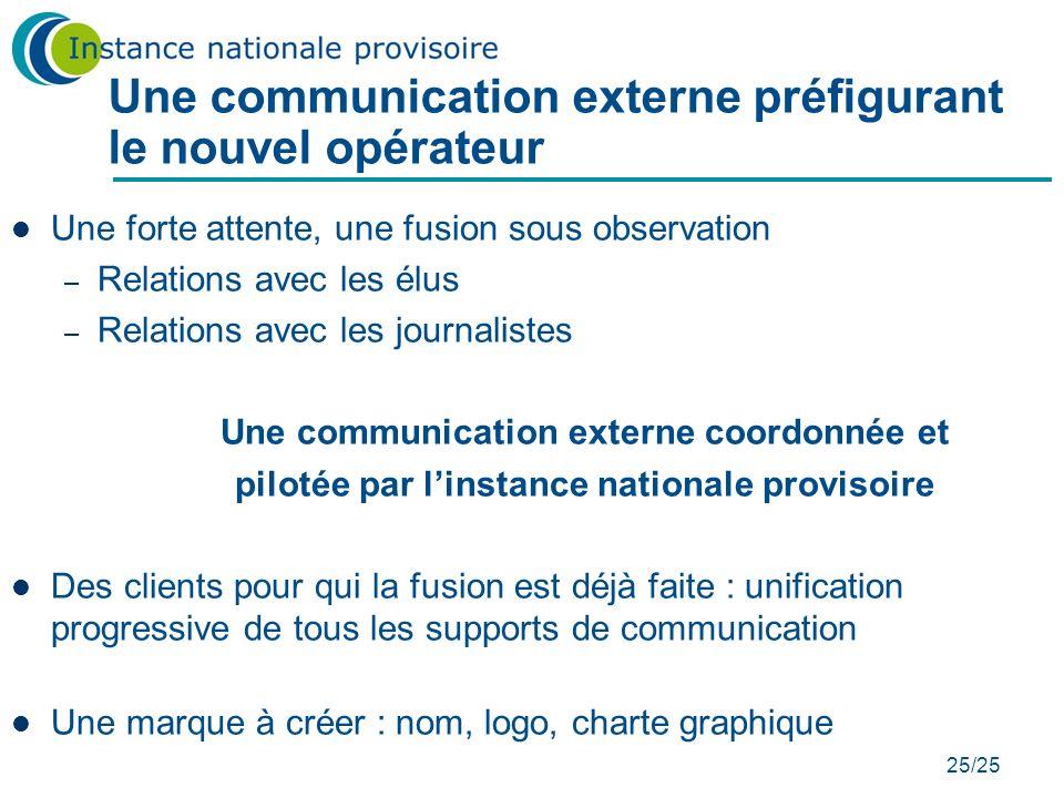 Une communication externe préfigurant le nouvel opérateur