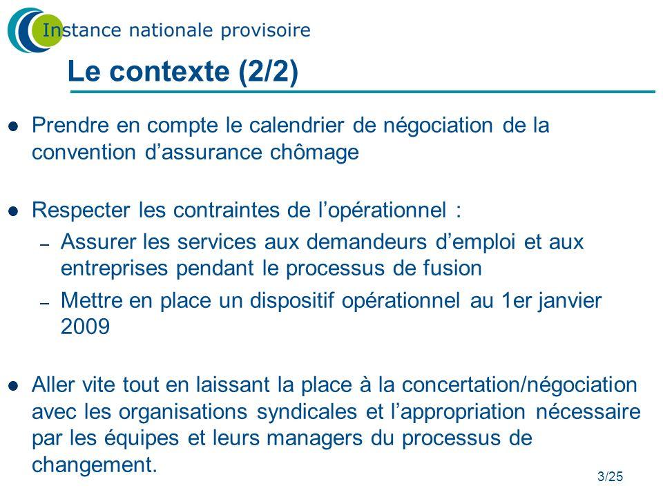 Le contexte (2/2) Prendre en compte le calendrier de négociation de la convention d'assurance chômage
