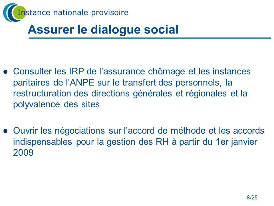 Assurer le dialogue social