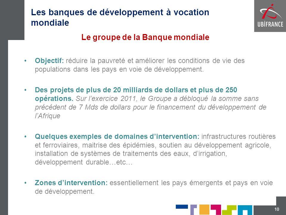 Les banques de développement à vocation mondiale
