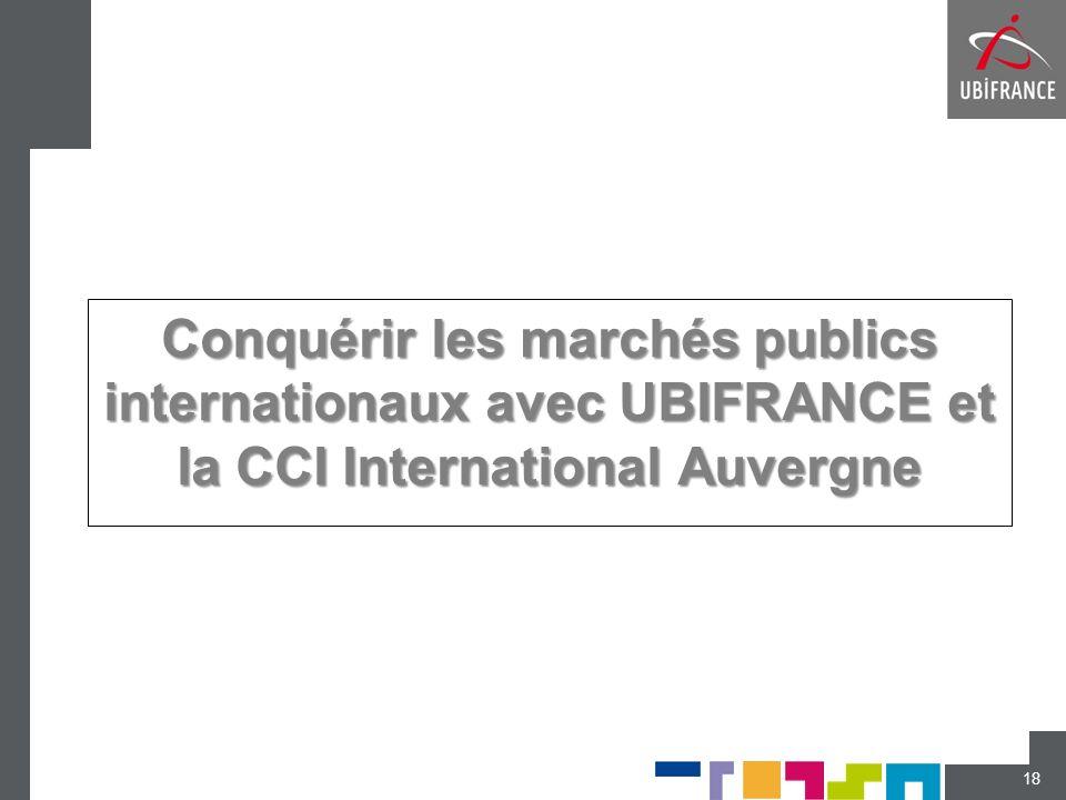 Conquérir les marchés publics internationaux avec UBIFRANCE et la CCI International Auvergne