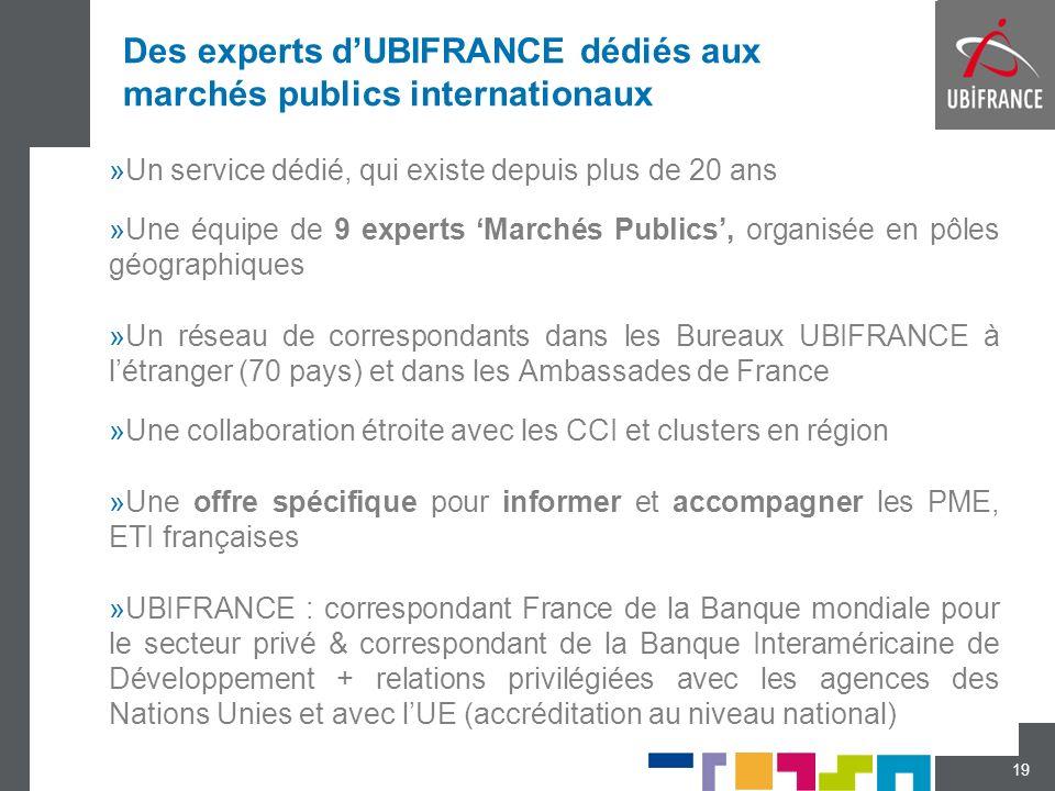 Des experts d'UBIFRANCE dédiés aux marchés publics internationaux