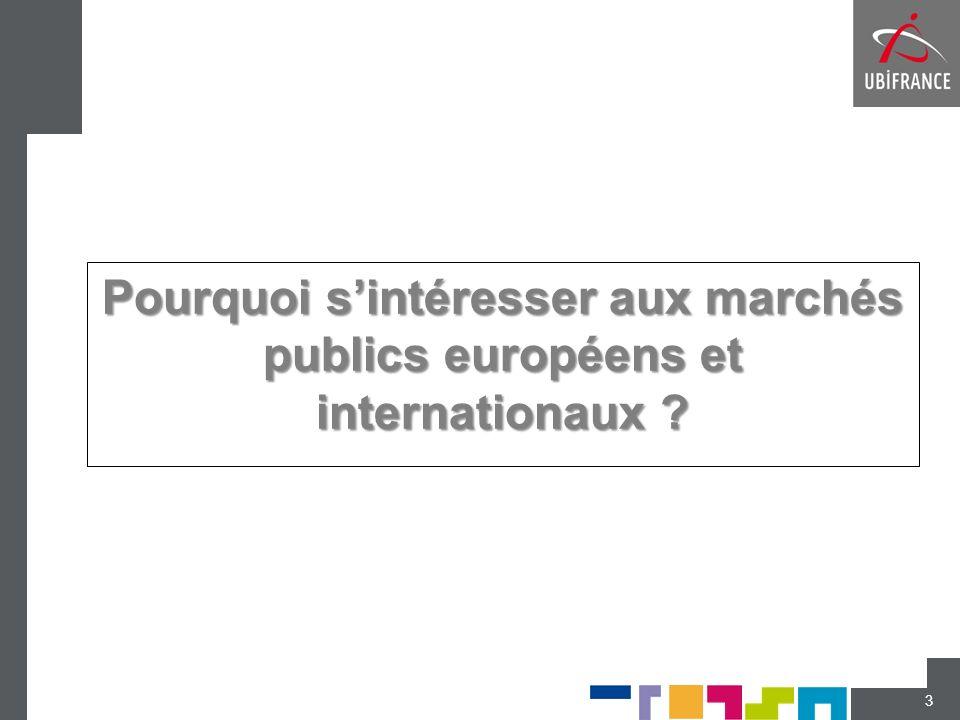 Pourquoi s'intéresser aux marchés publics européens et internationaux
