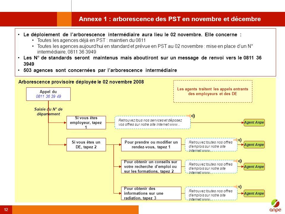 Annexe 1 : arborescence des PST en novembre et décembre