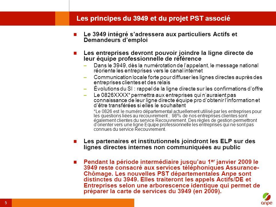Les principes du 3949 et du projet PST associé