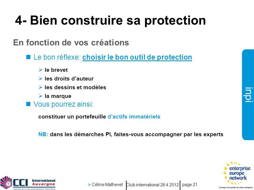 4- Bien construire sa protection