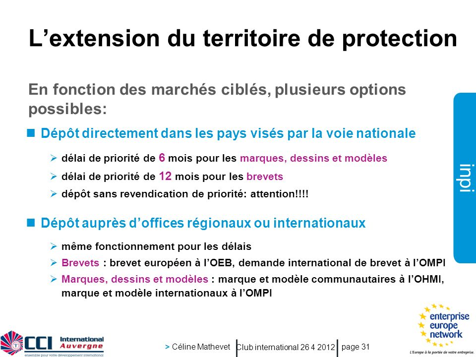 L'extension du territoire de protection