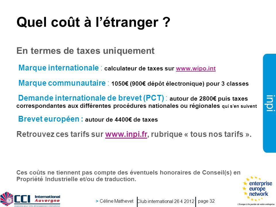Quel coût à l'étranger En termes de taxes uniquement