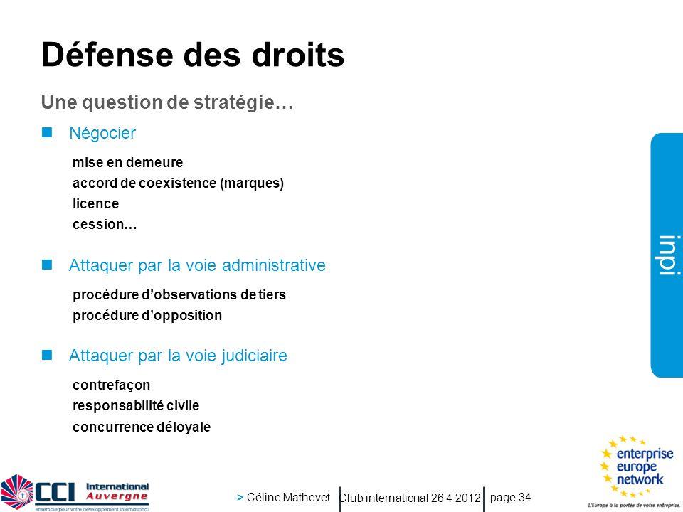 Défense des droits Une question de stratégie… Négocier