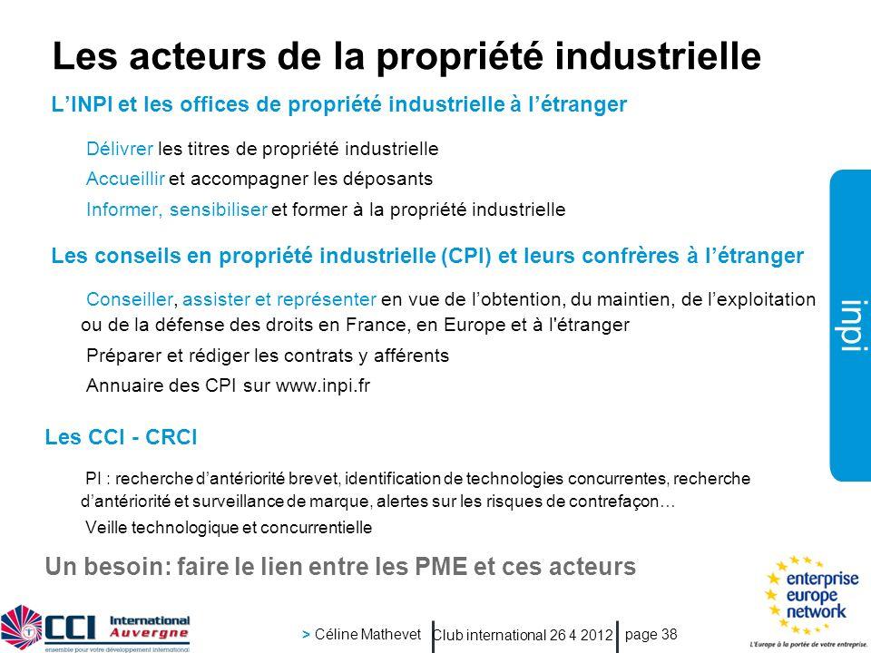 Les acteurs de la propriété industrielle