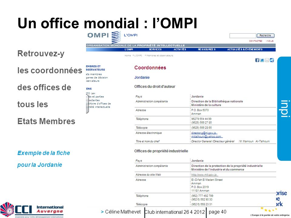 Un office mondial : l'OMPI