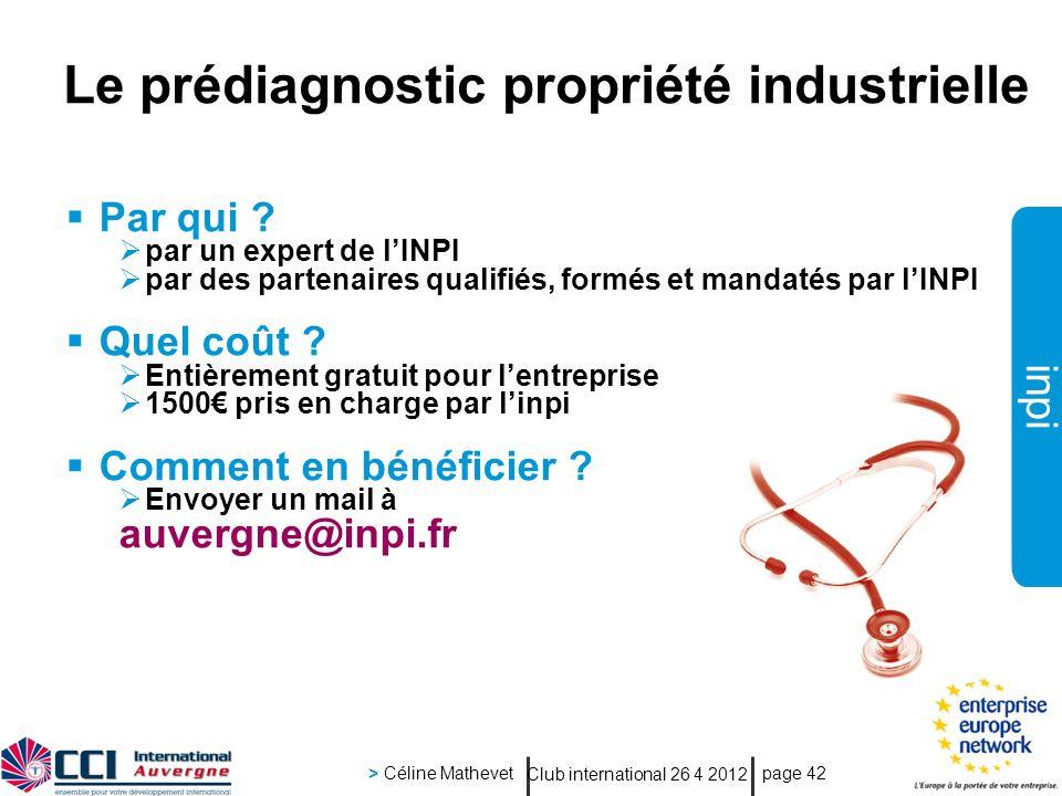 Le prédiagnostic propriété industrielle