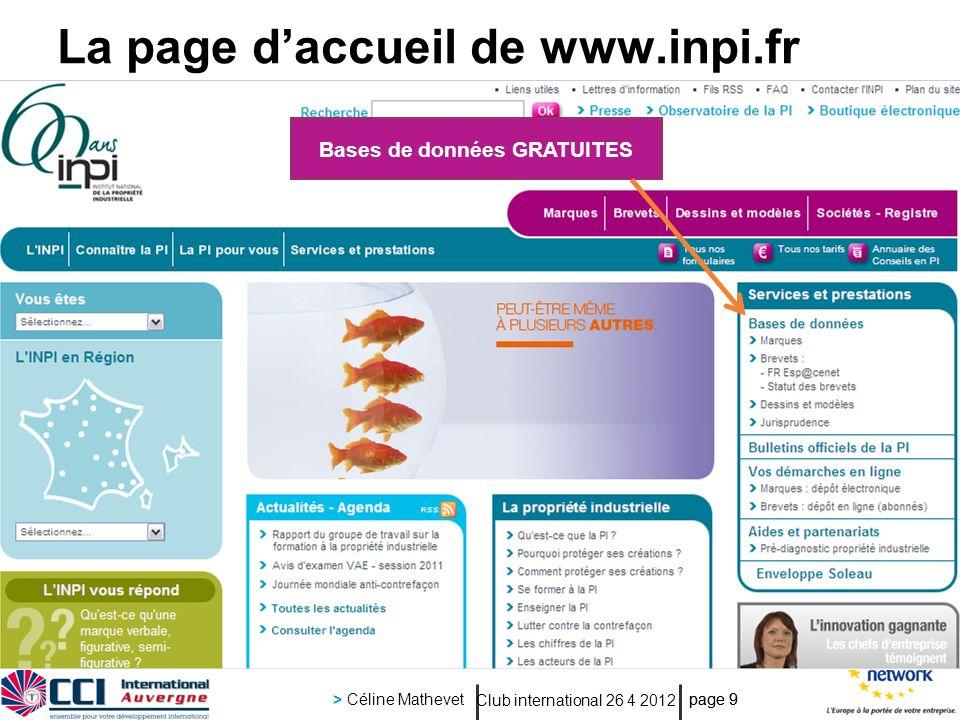 La page d'accueil de www.inpi.fr